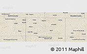 Shaded Relief Panoramic Map of Osceola County