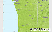 Physical Map of Ottawa County