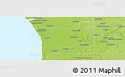 Physical Panoramic Map of Ottawa County