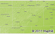 Physical 3D Map of Washtenaw County