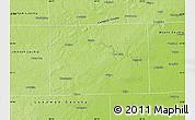 Physical Map of Washtenaw County
