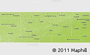 Physical Panoramic Map of Washtenaw County