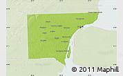 Physical Map of Wayne County, lighten
