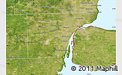 Satellite Map of Wayne County