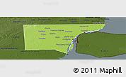 Physical Panoramic Map of Wayne County, darken