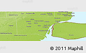 Physical Panoramic Map of Wayne County