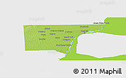 Physical Panoramic Map of Wayne County, single color outside