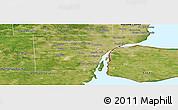 Satellite Panoramic Map of Wayne County