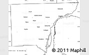Blank Simple Map of Wayne County