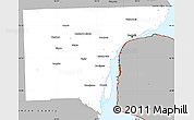 Gray Simple Map of Wayne County