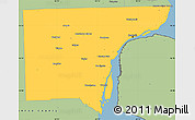 Savanna Style Simple Map of Wayne County