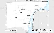 Silver Style Simple Map of Wayne County