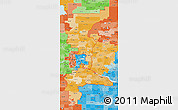 Political Shades 3D Map of ZIP codes starting with 550