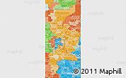 Political Shades Map of ZIP codes starting with 550