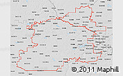 Silver Style 3D Map of ZIP codes starting with 553