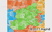 Political Shades Map of ZIP codes starting with 553