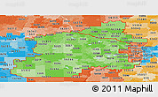 Political Shades Panoramic Map of ZIP codes starting with 553
