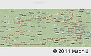 Savanna Style Panoramic Map of ZIP codes starting with 553