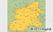 Savanna Style Simple Map of ZIP codes starting with 553
