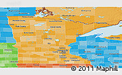 Political Shades Panoramic Map of Minnesota