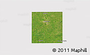 Satellite 3D Map of Steele County, cropped outside