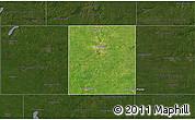 Satellite 3D Map of Steele County, darken