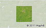 Satellite 3D Map of Steele County, lighten
