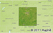 Satellite 3D Map of Steele County, physical outside
