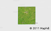 Satellite 3D Map of Steele County, single color outside