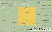 Savanna Style 3D Map of Steele County