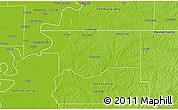 Physical 3D Map of DeSoto County