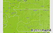 Physical Map of DeSoto County
