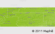 Physical Panoramic Map of DeSoto County