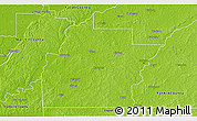 Physical 3D Map of Hinds County