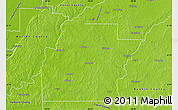 Physical Map of Hinds County