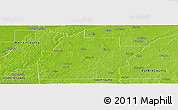 Physical Panoramic Map of Hinds County