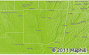 Physical 3D Map of Monroe County