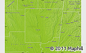 Physical Map of Monroe County
