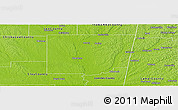 Physical Panoramic Map of Monroe County