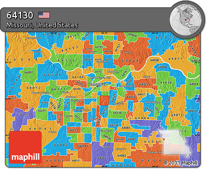 Free Political Map of ZIP Code 64130