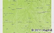 Physical Map of Cedar County