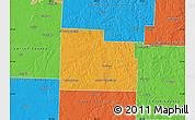 Political Map of Cedar County