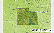 Satellite Map of Cedar County, physical outside