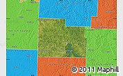 Satellite Map of Cedar County, political outside