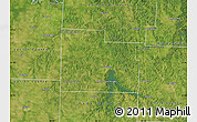 Satellite Map of Cedar County