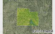 Satellite Map of Cedar County, semi-desaturated