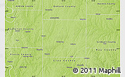 Physical Map of Clinton County