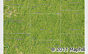 Satellite Map of Clinton County