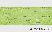 Physical Panoramic Map of Clinton County