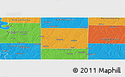 Political Panoramic Map of Clinton County